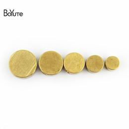 2019 morsetto di bracciali BoYuTe 100 Pcs Round 4-5-6-7-8 MM Perle in ottone metallo Fai da te Fatti a mano Distanziatori Creazione di gioielli