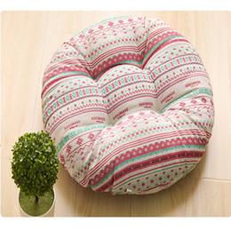 Wholesale Beige Office Chair - Ou shigu mat chair cushion chair cushion ethnic customs office round cotton thickening futon matNew plush cushion crystal pile cushioned uph