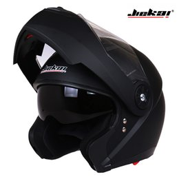 modular helmet visor Coupons - Classic Dual Visor Motorcycle helmet JIEKAI 115 model flip up motorbike helmet DOT approved Safety casco