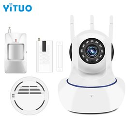 Wholesale Day Night System - Wireless Home Security Alarm System Remote Motion Sensor Wifi mini Burglar Alarm System Kit 433mhz Security Protection YITUO