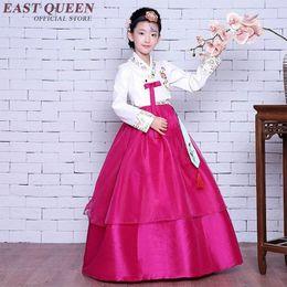 Wholesale Clothes Korea For Girls - Girl Korea Traditional Costume Child Hanbok Clothing Kids Korean Hanbok For Stage Performance Dance Clothing KK033