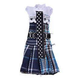 Wholesale Cotton Rope For Sale - 1 Set Hot Sale Beautiful Handmade Party School Clothes Lattice Dress for Barbie Doll Accessories Wholesale