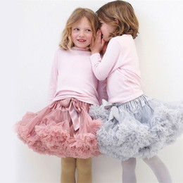 Wholesale White Ballet Skirt Children - Baby Girls Tutu Skirt Ballerina Pettiskirt Layer Fluffy Children Ballet Skirts For Party Dance Princess Dress Girl Tulle Miniskirt