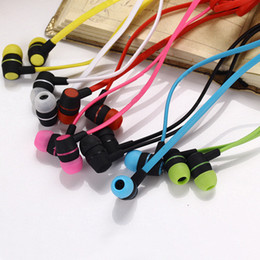 Wholesale Earphone Mic Pack - Sports Brand Wired Earphone In Ear Mic Headset for Samsung Galaxy S4 for Iphone Noise Cancelling Earbuds with Microphone With Retail pack