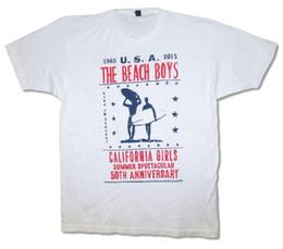 T-shirt blanc pour hommes de Beach Boys Cali Tour 2015 O-S Nouveau T-shirt Homme Officiel Imprimé Rond Homme Prix Bas ? partir de fabricateur