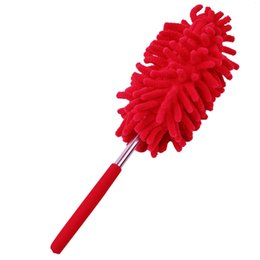 Wholesale Car Duster Case - Free shipment JI-168 Chenille Yarns Extendable Dust Shan Scaling Brush Clean Duster Car Wash with Mini Stainless Steel Feather Dusters Brush