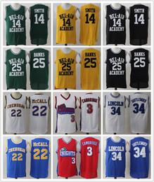 Wholesale L Bel - Men 3 Cambridges LA Knights MOVIE JERSEY BEL AIR WILL SMITH 25 BANKS 34 Jesus Shuttlesworth QUINCY McCALL CRENSHAW Basketball jerseys Cheap