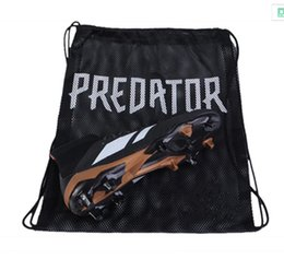 Wholesale Black Shoe Bags - 2018 New Shoe Bag Predator Tango 18 18.3 Black Soccer Shoes Sports Bag Mercurial 12 Superfly Football Boots Orange Sack for Cheap Sale