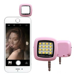 Wholesale Mini Photo Led Light - Mini 16 LED Selfie External Flash Fill-in Light Cellphone Camera Pocket Spotlight Photo Lamp Speedlite For IOS Android Phone