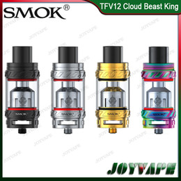 Wholesale Tank Top King - Authentic SMOK TFV12 Tank 6ml Cloud Beast King Sub ohm Atomizer With V12-T12 X4 Q4 Cloud-chasing Coil Top Refill System 100% Original