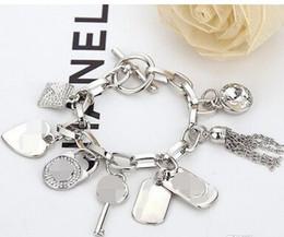 Braccialetto chiave del pendente del polsino di chiave della nappa chiave del cuore delle donne degli uomini del braccialetto di lusso nuovi gioielli da