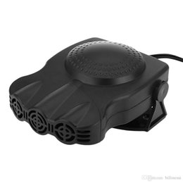 Wholesale 12v Defroster Fan - Upgraded Auto Heater 12V 150W Car Heating Fan Windscreen Defroster Portable Autos Dashboard Cigarette Socket Driving Demister +B