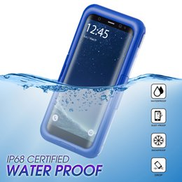Wholesale Cell Phone Cases Retail - 2018 IP68 Waterproof Cell Phone Case Hybrid 2 in 1 Shockproof Snowproof Cover for iphone X 7 8 6 6S plus Samsung S9 S8 with retail package