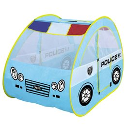 Wholesale play tent house - Large Play House Toy Tent Children Funny Oceanic Pool Parent Child Communication Interactive Toy Lovely Police Tents 42dm W