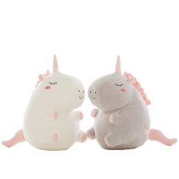 Fluffy peluche Personaggio Unicorno peluche Morbido Peluche unicorno Bambole per bambini regalo Giocattolo per bambini OTH180 da tessuti per tappi fornitori