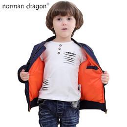 Wholesale baby baseball jackets - 2018 Thick Winter 2-12 years old Kids bomber flight jacket ma-1 pilot baby boys padded kids child baseball puffer coat