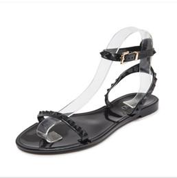 Canada Nouveau 2018 D'été Chaussures Femme Sandales Belle Fleur Gelée Chaussures Solide Casual Diapositives Sandalias Mode Appartements Pantoufles cheap lovely flat slippers Offre
