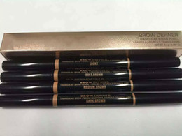Wholesale hot ends - HOT MAKEUP Eyebrow Enhancers Makeup Skinny Brow Pencil gold Double ended with eyebrow brush 0.2g 4 Color