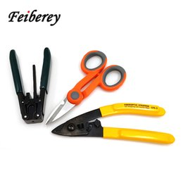 наборы инструментов для волокон Скидка 3 in 1 FTTH Fiber Optic Cutting and Stripping Tool Kits for Optical Fiber Fusion Splicing and Field Quick Cold Junction Connect