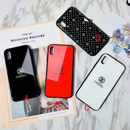 Wholesale Iphone Color Back Cover - Case for iPhoneX 8 7 6 7plus Luxurious solid color mirror silicone case for Apple iPhone8plus hard back cover + TPU