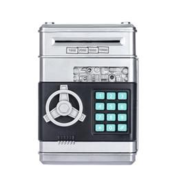 2019 tirettes Mot de passe Mini Tirelire Cash Coins Argent Bill Safe Box Lock Son Pile de puissance de la batterie Panda économiser des canettes d'argent promotion tirettes