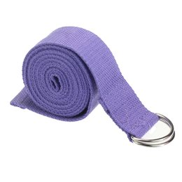 2019 упражнения для женщин Women Yoga D-ring Belt Stretch Strap Gym Waist Leg Fitness Exercise Waist Leg Resistance Exercise Band Resistance Band скидка упражнения для женщин