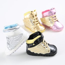best service 10c60 b6595 Bebé recién nacido Primeros caminantes Zapato Infant Toddler Pony Wing  Toddler Boots Boy Girl Angel Wings Botines Zapatos Prewalkers zapatos de  los ángeles ...