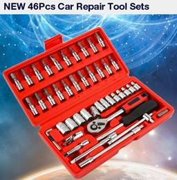 """nissan fahrzeug scan-tool Rabatt DHL 20 STÜCKE 46 stücke Schraubenschlüssel Buchse 1/4 """"Auto Repair Tool Ratsche Set für Auto Reparatur"""