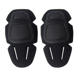 Wholesale paintball padded - New Outdoor 1 Pair of Adult Tactical Protection Knee Pad Paintball Kneepads