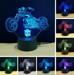 Changer de jouets en Ligne-Nouveau 3D Cross-country Moto Lampe Coloré USB LED Veilleuse Visual Remote Touch Switch 3D Night Light Illusion Enfant Chambre Jouet Décor