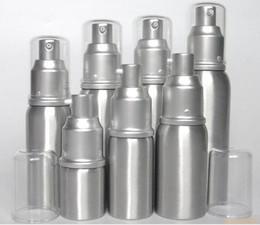 Wholesale aluminum airless cosmetic bottles wholesale - 20ml 30ml 50ml aluminum Empty refillable Airless Lotion Treatment Pump Cosmetic Dispensing Bottles lotions, liquid bott