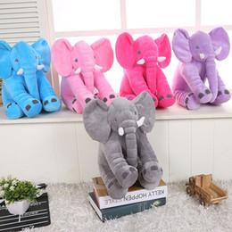 подушка куклы подруги Скидка 5 цветов плюшевые игрушки слон подушка детские успокаивающие сна куклы дети подруги праздник подарок слон игрушки