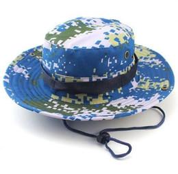 Erkekler için yeni toptan polyester kova şapka Moda Kamuflaj Camo Balıkçı Şapka Geniş Brim Güneş Balıkçılık Kova Şapka Kamp Ile Avcılık Şapka nereden kamuflaj şapkaları tedarikçiler