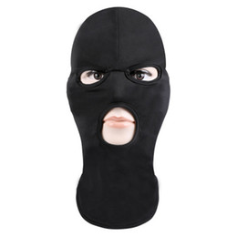 knitted face mask Coupons - Face Mask Ski Mask bike Hat Full Face Cover Three 3 Hole Knit Hat Winter Stretch Snow mask dustproof for adults