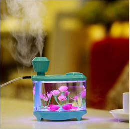 Wholesale Led Fish Tank Lights - 2018 New Fish Tank 460ml Humidifier with Colorful LED lights for aromatherapy diffuser ultrasonic essential oil diffuser with Big Capacity