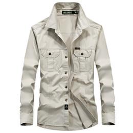 0f487183a6ef5 Marca clothing shirt homens manga longa carga estilo militar outono  primavera plus size m-6xl mens camisa casual camisa masculina estilo  militar camisas de ...