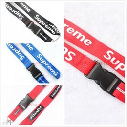 Nuevo cordón de la ropa Logotipo de la ropa Cordón para MP3 / 4 teléfono celular cordones de la cadena Cordón de la correa / Llavero desmontable / Negro / Rojo / azul desde fabricantes