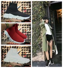 Люксовый бренд дизайнерская обувь дешевые оригинальный 2018 Женщины мужчины носок обувь скорость тренер спортивные кроссовки ТОП сапоги Повседневная обувь мужская 36-45 от