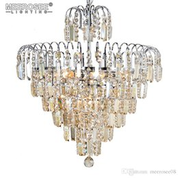 2018 Lámpara de Luz de Araña de Cristal de Lujo Lustres de Cristal Lámpara de Cristal Colgante para Villa Decoración Del Hogar desde fabricantes