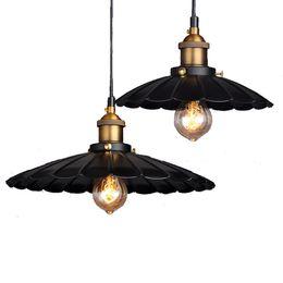 Canada Métal Creative Rétro Lotus Lustre personnalité Décoration Fer Pendentif Lampes pour Restaurant Café Chambre Éclairage Intérieur E27 Offre