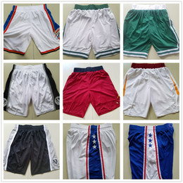 Wholesale Basketball C - Basketball Shorts Men's ok c 2017-18 Shorts New Season Breathable Sweatpants Teams Classic Sportswear 76 er Basketball Short