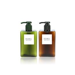 disegno di bottiglia liquido Sconti 100ml bottiglie di emulsione tetragonale lavaggio a mano premere testa design liquido shampoo vaso cosmetici viaggio sub bottiglia PETG contenitore di emulsione