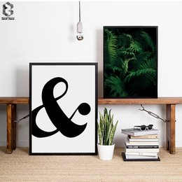 Wholesale Palms Pictures - Tropical Palm Quotes Scandinavian Poster Wall Art Canvas Painting Modern Minimalist Fabric Print Living Room Home Decoration