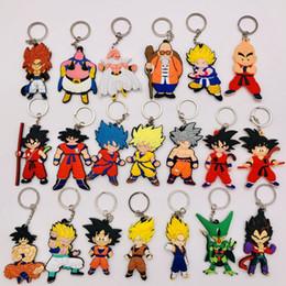 Gros Bande Dessinée Figure Bande Dessinée Dragon Ball Porte-clés 3D Double Face Goku Vegeta Porte-clés PVC Anime Porte-clés Enfants Jouet Pendentif Porte-Clé ? partir de fabricateur