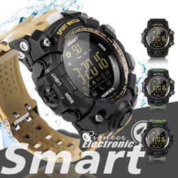 EX16S reloj inteligente reloj de camuflaje Reloj Bluetooth IP67 prenda impermeable cámara remota Fitness Tracker usable reloj de pulsera para iOS Android desde fabricantes