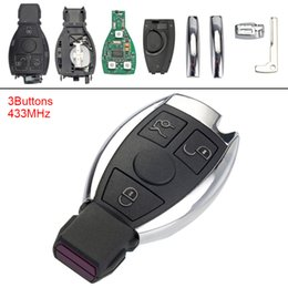 Fob remoti senza chiave online-433 MHz 3 pulsanti chiave senza chiave Flip Remote Fob per Mercedes Benz anno 2000+ controllo NECBGA KEY_11E