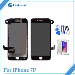 Wholesale Iphone Front Camera Replacement - For iPhone 7 plus Full Set LCD Display Touch Screen Digitizer Replacement with Front Camera &Free Shipping Black White