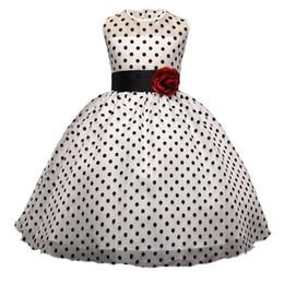 Les robes élégantes de fille d'été Vintage robe de princesse à pois enfants robes de bal Tutu robes enfants vêtements sans manches ? partir de fabricateur