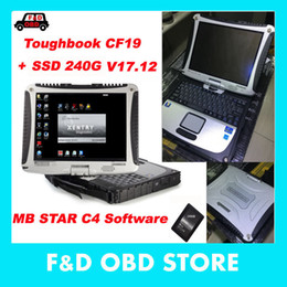 Wholesale Mb Star C4 Laptop - Wholesale-Best Toughbook Panasonic CF 19 CF19 CF-19 4GB RAM laptop with DTS Monaco8+Vediamo+Xentry+DAS+EPC installed in SSD for MB Star C4