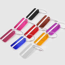 Wholesale Aluminium Luggage - Aluminium Alloy Is a Luggage Tag Luggage Baggage Checked Consignment Travel Address Certificate Bag Tag Card Dog Tag Collection Key Ring